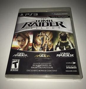 Tomb Raider: Trilogy (Sony PlayStation 3 PS3) Complete With Manual *TESTED*