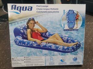 "Aqua Luxury 5ft 8"" (176.8cm) Inflatable Pool Lounger Float, Suitable age 15+"