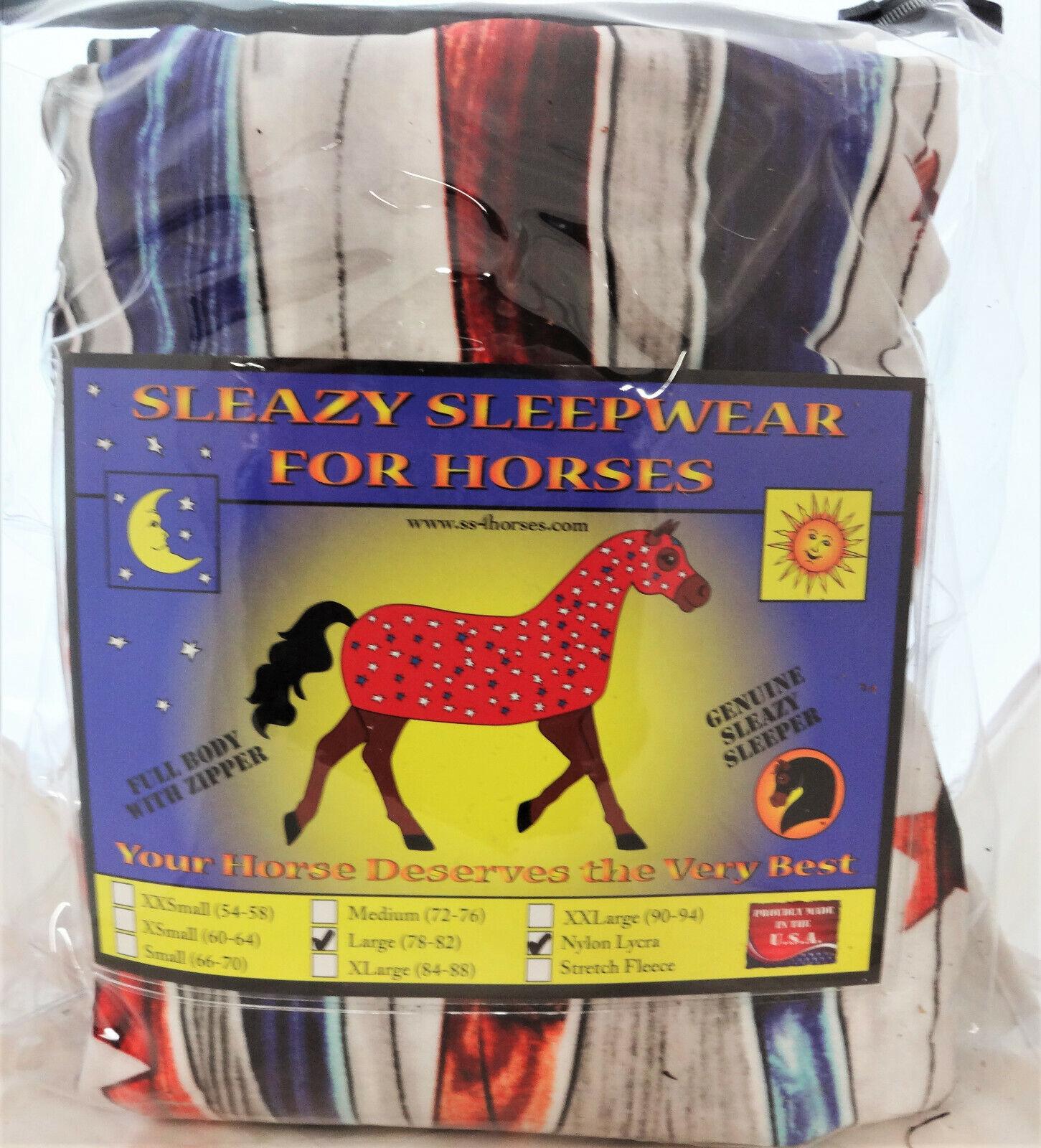 Patriot Sleazy Sleepwear Horses Full Body Sheet Stretch Lycra Größes Stars Stripe