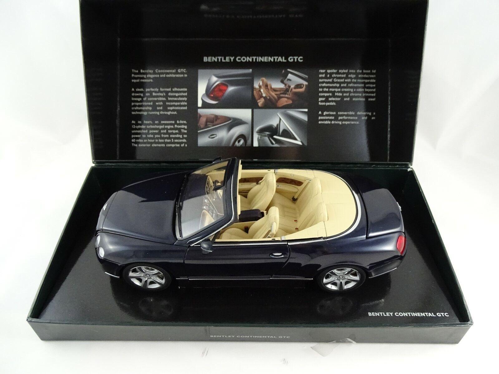 1:18 Minichamps Bentley Continental GTC Dark Saphire Nuovo / Conf. Orig. §
