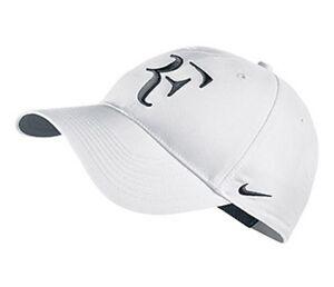 NEW Nike Hybrid RF Roger Federer Hat 371202-106 White   Black Cap  ea0bc31de92