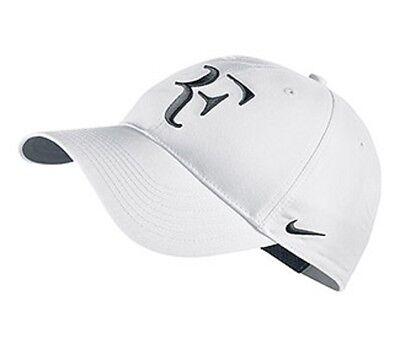 6717e8fe NEW Nike Hybrid RF Roger Federer Hat 371202-106 White / Black Cap | eBay