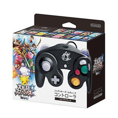 NEW Nintendo GameCube Controller WII U Super Smash Bros. Black Japan Import F/S