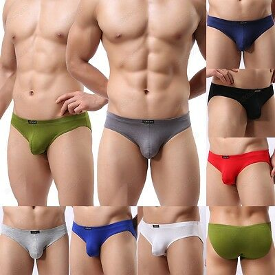 Modal Men's Sexy Soft Briefs Underwear Comfortable Bikini Underpants M L XL NK29