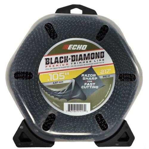 ECHO String Trimmer Line .105 Black Diamond 217 Ft Large Clam Cutting Accessory