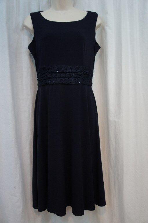 Jessica Howard Dress Sz 10 Navy bluee Sleeveless Lace A Line Evening Dinner Dress