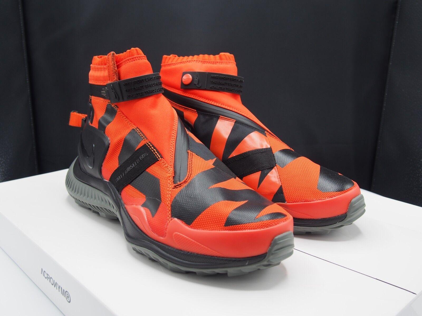 NikeLab NSW Gaiter Boot Team orange AA0530-800 Nike Men's size 9.5 US