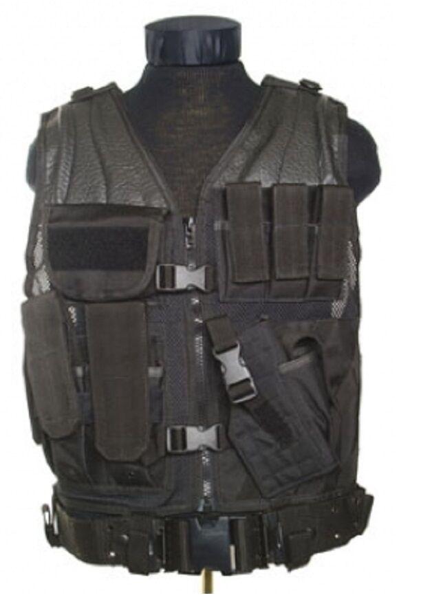 US MOLLE POLICE SWAT CROSSDRAW TACTICAL ASSAULT Einsatz Weste Vest schwarz schwarz