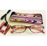 Magnivision Multi Colored Reading Glasses With Case (m37) Choose Your Strength