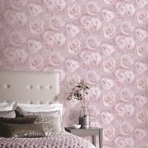 Image Is Loading Arthouse Blush Pink Rose Fl Flowers Heavyweight Quality
