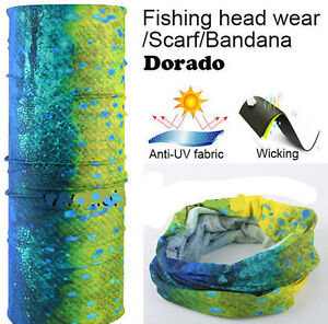 UV Face Mask Headwear Fishing Gator Bandana Scarf Neck Covering Hunting Mahi 1