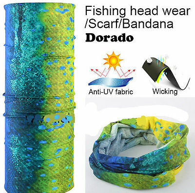 UV Face Mask Headwear Fishing Boat Gator Bandana Scarf Neck Covering Bass