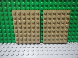 Brown 6x8 Standard Base Plate Bricks ~ Lego ~ NEW Castle 2