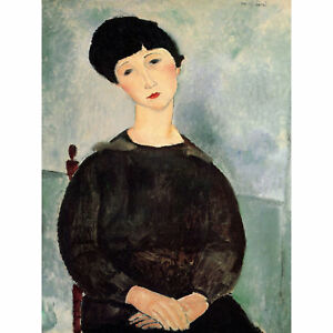 b6350bb003d Image is loading Amedeo-Modigliani-Young-Girl-Old-Master-Art-Painting-