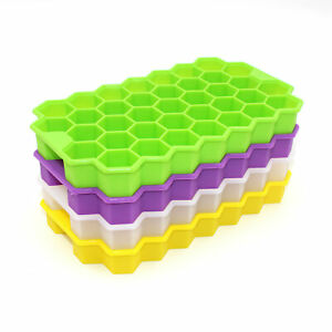 Honeycomb-Shape-Ice-Cube-Maker-37-Cubes-Silicone-DIY-Frozen-Ice-Tray-Mold-Tool