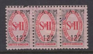 Great-Britain-SPERRY-amp-HUTCHINSON-pink-trading-stamps-x3-circa-1960-039-s