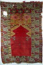 A Rare Antique 19th Century Turkish Anatolian Karaman Prayer Rug