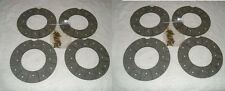 Fordson super major, Nuffield, Massey disk brake reline kit + rivets both axles