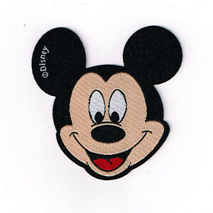 mickey mouse kopf applikation patch zum aufb geln ca 6 5 cm ebay. Black Bedroom Furniture Sets. Home Design Ideas