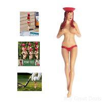 Professional Tees Pin-up Girl Golf Plastic Nude Bikini Funny Gag Gift Golfer X 6