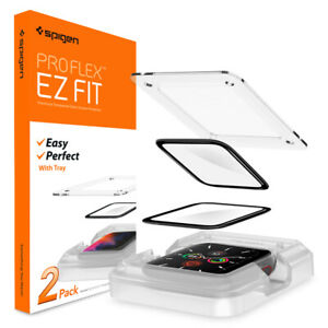 Apple-Watch-5-4-44mm-Screen-Protector-Spigen-ProFlex-EZ-Fit-2PACK