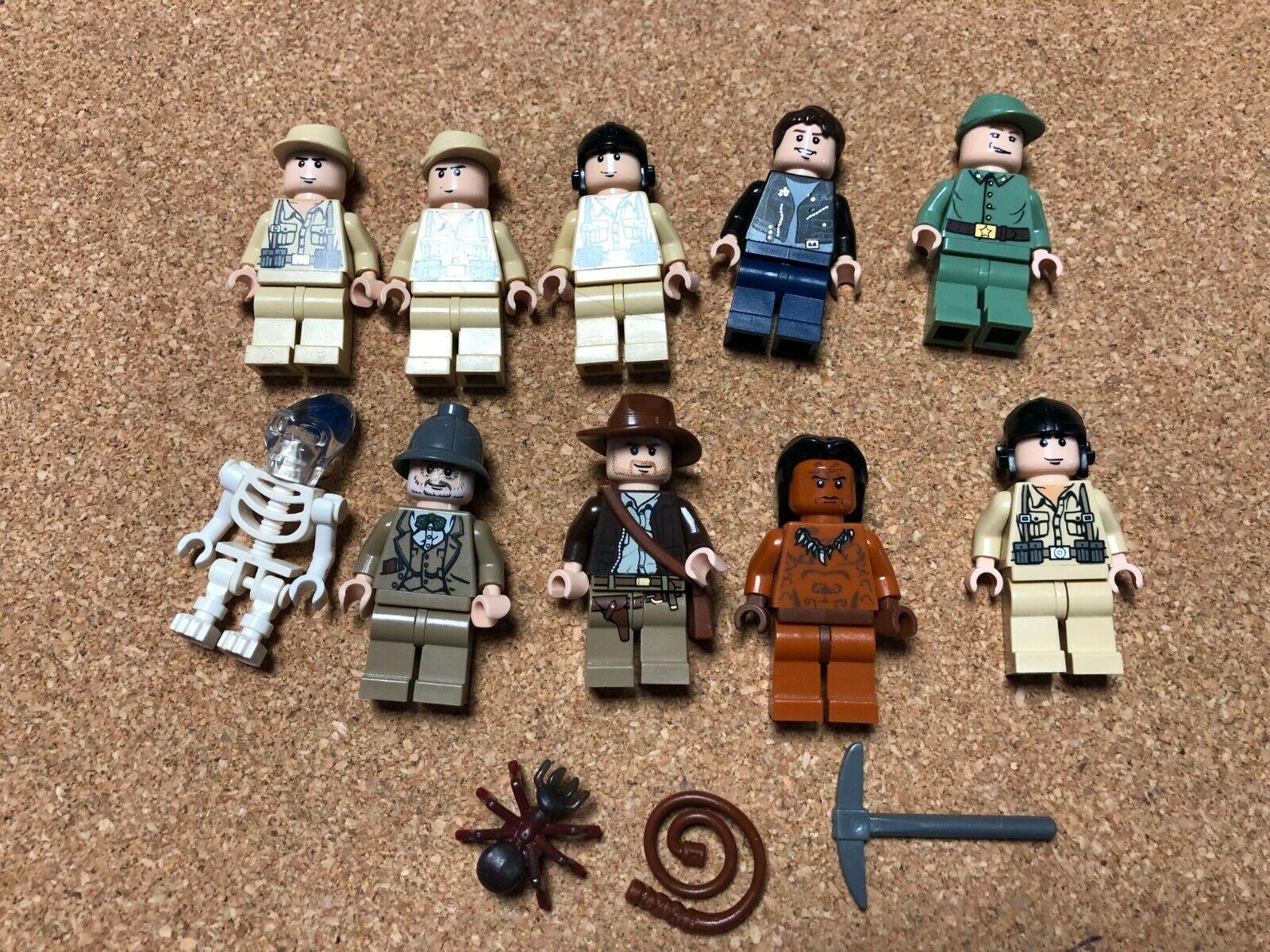 LEGO INDIANA JONES MINI FIGURE LOT OF 10 Mutt Henry O515B