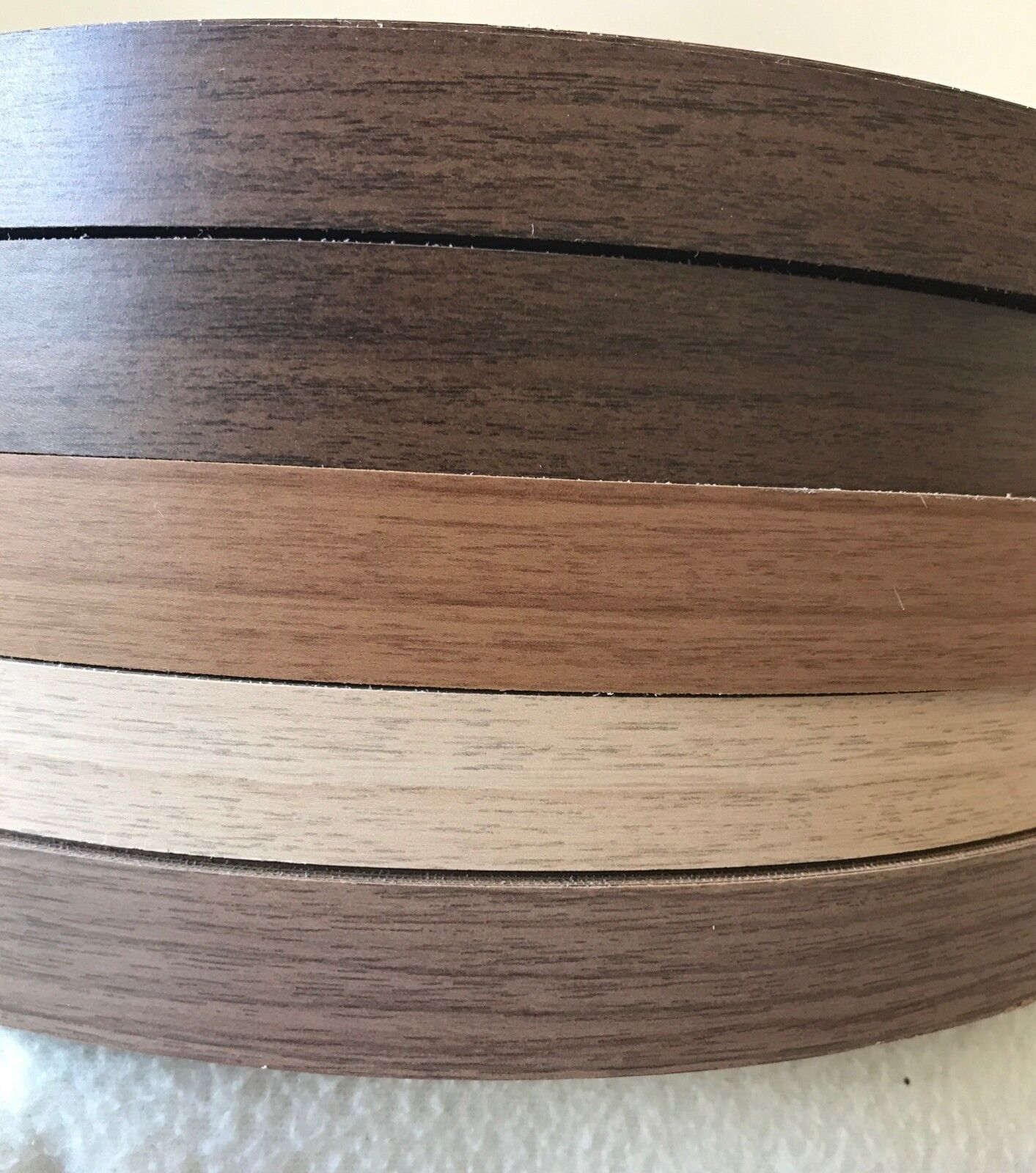 Iron on Pre-Glued Veneer Melamine Edging Tape 48mm Black Gloss