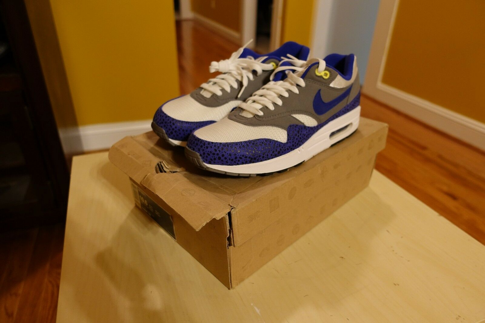 NIKE AIR MAX 1 SAFARI blueE SIZE 10.5 BRAND NEW 308866 142 PATTA UNDEFEATED ATMOS