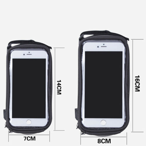 Waterproof Bicycle Frame Bag Bike Touch Screen Frame Phone Pouch Case Pannier