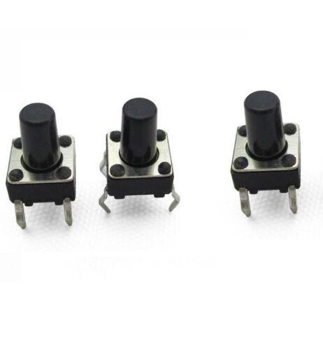 100 un. Piezas Botón Pulsador Táctil Interruptor Interruptor Táctil 6X6X10mm 4-pin Dip Nuevo