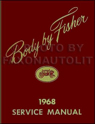 1968 Pontiac Body Reparatur Handbuch 68 Executive Catalina Paris Laurentian Shop