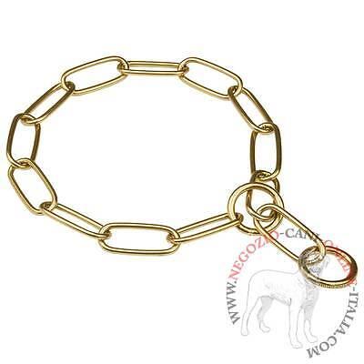 Collare cani catena maglia scaletta targhetta 6x2 cm CAMON DD029 60 cm M267