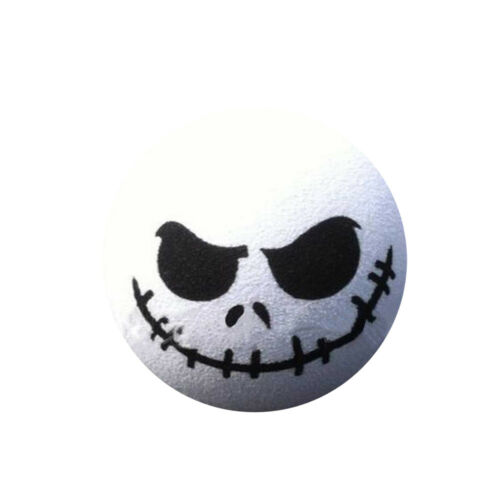 Halloween Skull Car Antenna Topper Aerial Ball Decoration Toy White 1pc