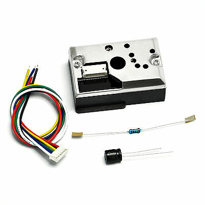 New Sharp GP2Y1010AU0F Optical Dust Sensor Kit Air purification system Arduino