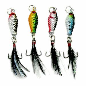 4-x-Carbon-Steel-Mini-small-Minnow-Fishing-Lures-Bass-Bait-Crankbait-Hook-Tackle