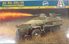 Italeri 1/72 Sd Kfz 251/16 Flammpanzerwagen Flame Thrower Model Kit 7067