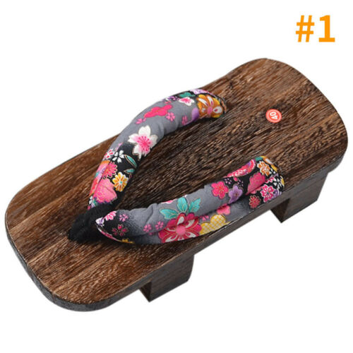 Women Geta Stylish Japanese Style Sandals Breathable Flip Flops Shoes Size New