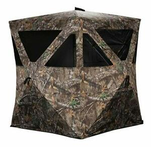 Rhino Blinds R100-RTE 2 Person Hunting Ground Blind Realtree Edge