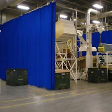 New Solid Blue Curtain Wall Partition 6 X 10