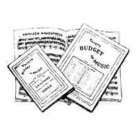 Vintage Sheet Music Unmounted Rubber Stamp 10