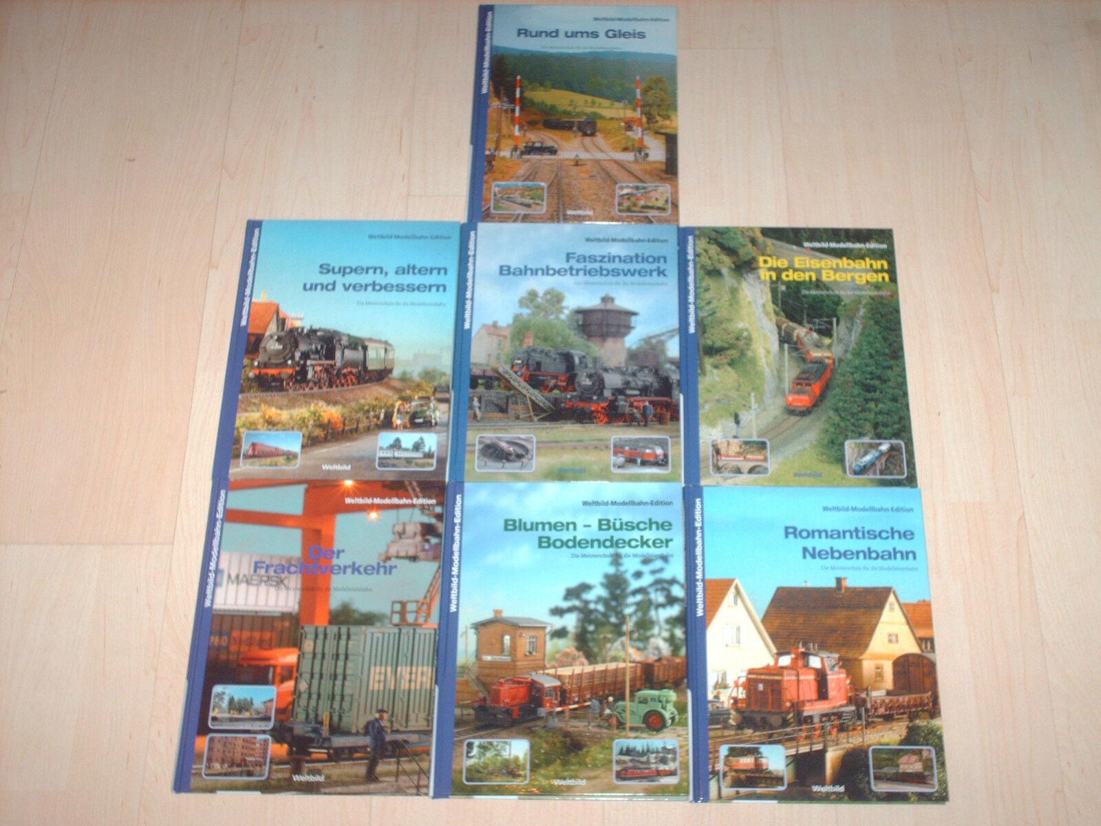 Il mondo completa immaginemodellololo FERROVIA DA COLLEZIONE edizione 7 Hardcover volumi NUOVO