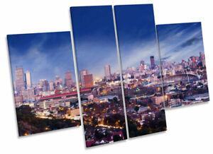 1285 Johannesburg South Africa Skyline Box Canvas Print