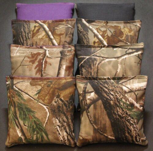 CORNHOLE BEAN BAGS TREE Camo Camoflauge Purple Navy Hunting Fishing Bags