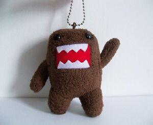 4 mini domo kun plush keychain domokun monster stuffed toy phone