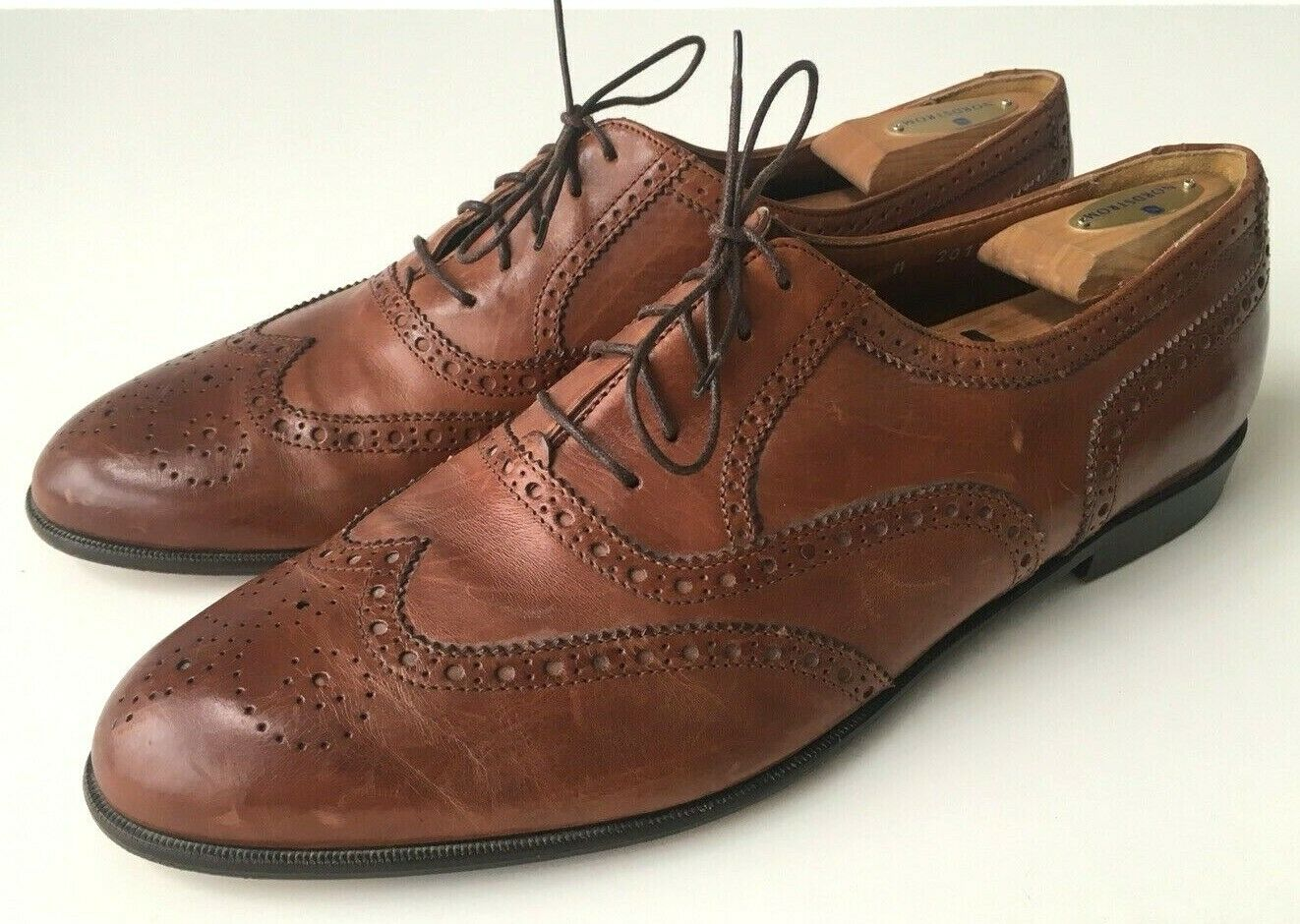 c841ae3e51daa Brown Leather Wing Tip Oxford Made in Men's 13 M Florentine ...