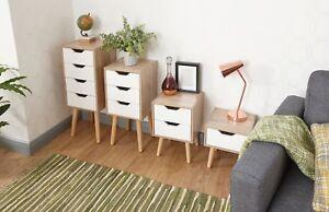 Image Is Loading Designer Scandinavian Style Bedroom Furniture Oak Effect White