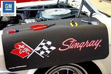 Black Fender Gripper Protective Cover With Flag For Chevrolet Corvette Stingray C3