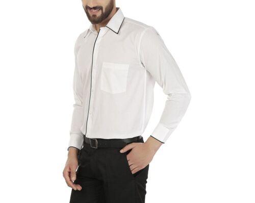 Men/'S Slim Fit Stylish Shirt Long Sleeve Formal Dress Shirt Casual White Shirt