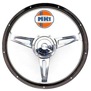 Austin-Mini-Clubman-1275-14-034-cloute-bois-fonce-Volant-amp-BOSS-Kit-de-montage