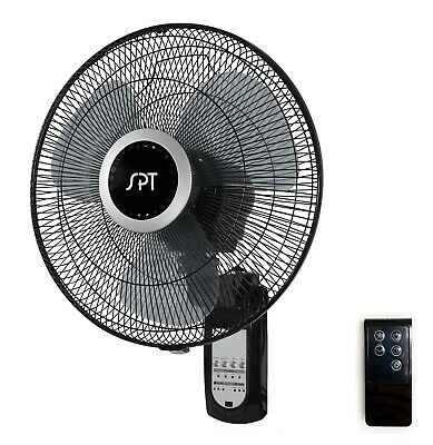 Wall Mount Fan Oscillating 16 Inch 3 Speed Indoor With Remote Control Gym Room Ebay